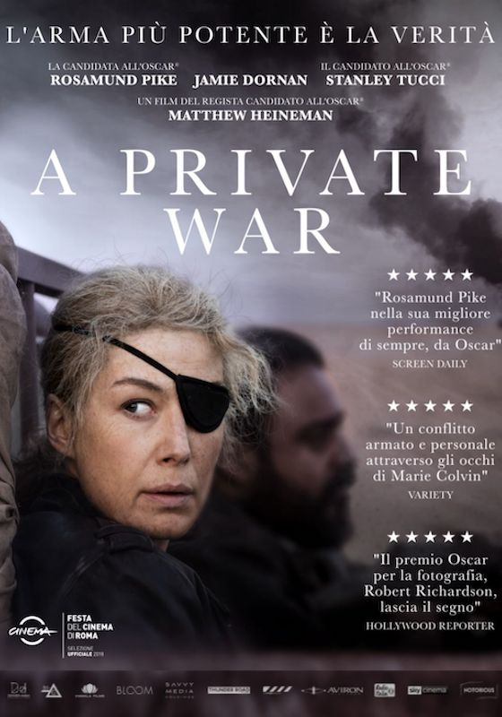 A PRIVATE WAR *VOS – Matthew Heineman # USA 2018 [1h 46′]