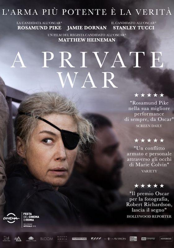 A PRIVATE WAR *VOS – Matthew Heineman # USA 2018 [1h 46′]