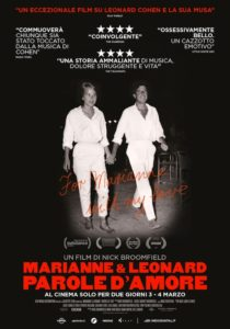 MARIANNE & LEONARD. PAROLE D'AMORE - Nick Broomfield # USA 2019 (104') @ Giardino Barbarigo